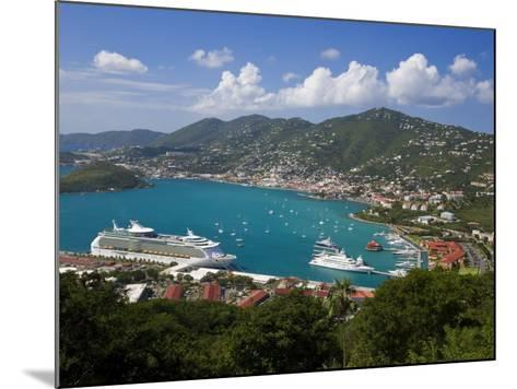 Charlotte Amalie and Cruise Ship Dock of Havensight, St. Thomas, U.S. Virgin Islands, West Indies-Gavin Hellier-Mounted Photographic Print