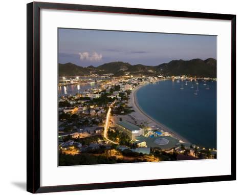 Great Bay and the Dutch Capital of Philipsburg, St. Maarten, Netherlands Antilles, West Indies-Gavin Hellier-Framed Art Print