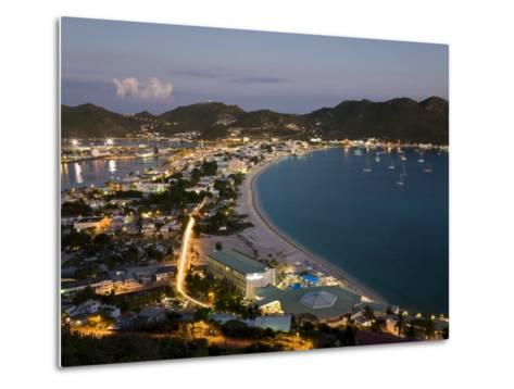 Great Bay and the Dutch Capital of Philipsburg, St. Maarten, Netherlands Antilles, West Indies-Gavin Hellier-Metal Print