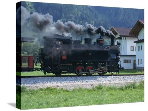 Steam Train, Ziller Valley, the Tirol, Austria, Europe-Gavin Hellier-Stretched Canvas Print