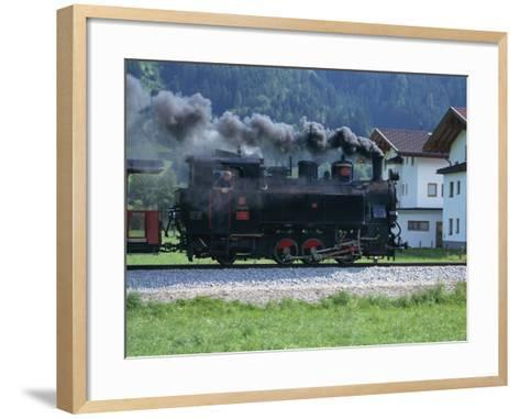 Steam Train, Ziller Valley, the Tirol, Austria, Europe-Gavin Hellier-Framed Art Print