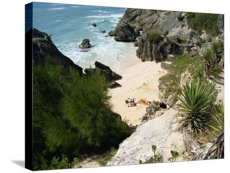 South Coast Beach, Bermuda, Atlantic Ocean, Central America-Harding Robert-Stretched Canvas Print