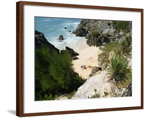 South Coast Beach, Bermuda, Atlantic Ocean, Central America-Harding Robert-Framed Art Print