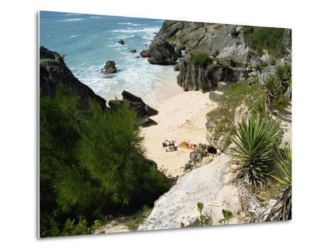 South Coast Beach, Bermuda, Atlantic Ocean, Central America-Harding Robert-Metal Print