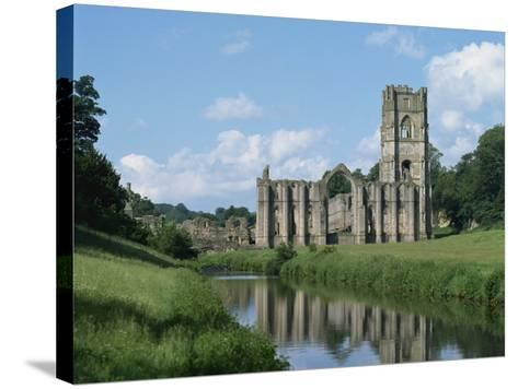 Fountains Abbey, UNESCO World Heritage Site, Yorkshire, England, United Kingdom, Europe-Harding Robert-Stretched Canvas Print