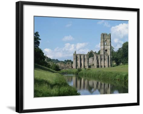 Fountains Abbey, UNESCO World Heritage Site, Yorkshire, England, United Kingdom, Europe-Harding Robert-Framed Art Print