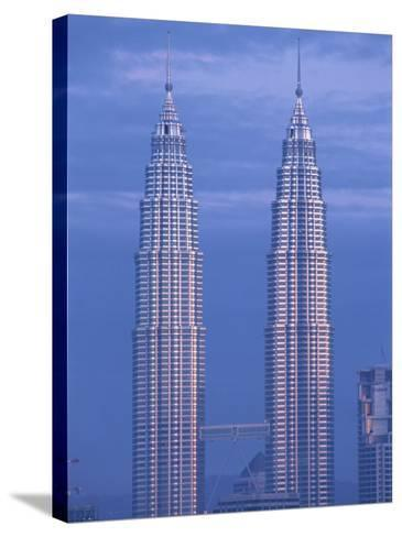 Twin Towers of the Petronas Building, Kuala Lumpur, Malaysia, Southeast Asia-Gavin Hellier-Stretched Canvas Print