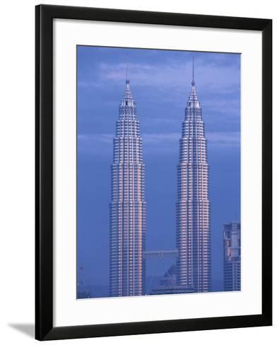 Twin Towers of the Petronas Building, Kuala Lumpur, Malaysia, Southeast Asia-Gavin Hellier-Framed Art Print