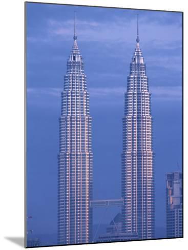 Twin Towers of the Petronas Building, Kuala Lumpur, Malaysia, Southeast Asia-Gavin Hellier-Mounted Photographic Print
