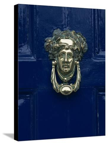Blue Painted Door and Knocker in the Centre of the City of Dublin, Eire, Europe-Gavin Hellier-Stretched Canvas Print