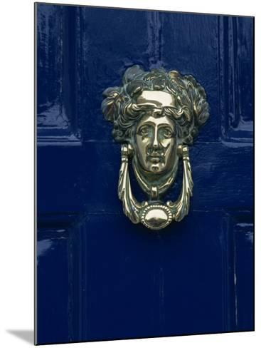 Blue Painted Door and Knocker in the Centre of the City of Dublin, Eire, Europe-Gavin Hellier-Mounted Photographic Print