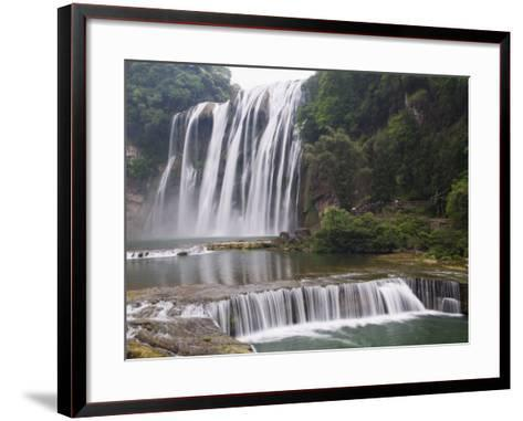 Huangguoshu Waterfall Largest in China 81M Wide and 74M High, Guizhou Province, China-Kober Christian-Framed Art Print