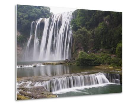 Huangguoshu Waterfall Largest in China 81M Wide and 74M High, Guizhou Province, China-Kober Christian-Metal Print