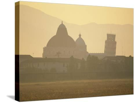 Baptistery, Duomo and the Leaning Tower in the Campo Dei Miracoli, Pisa, Tuscany, Italy-Gavin Hellier-Stretched Canvas Print