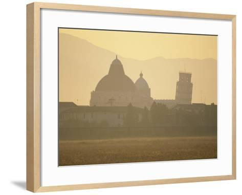 Baptistery, Duomo and the Leaning Tower in the Campo Dei Miracoli, Pisa, Tuscany, Italy-Gavin Hellier-Framed Art Print