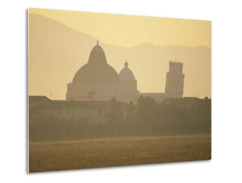 Baptistery, Duomo and the Leaning Tower in the Campo Dei Miracoli, Pisa, Tuscany, Italy-Gavin Hellier-Metal Print