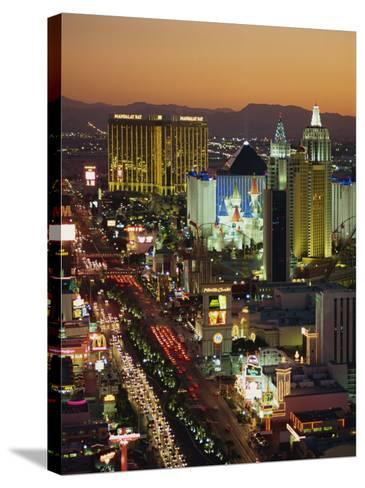 Elevated View of Hotels and Casinos, Las Vegas, Nevada, United States of America, North America-Gavin Hellier-Stretched Canvas Print