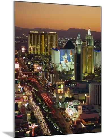Elevated View of Hotels and Casinos, Las Vegas, Nevada, United States of America, North America-Gavin Hellier-Mounted Photographic Print