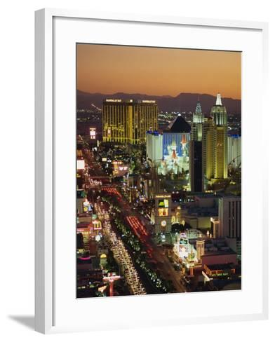 Elevated View of Hotels and Casinos, Las Vegas, Nevada, United States of America, North America-Gavin Hellier-Framed Art Print