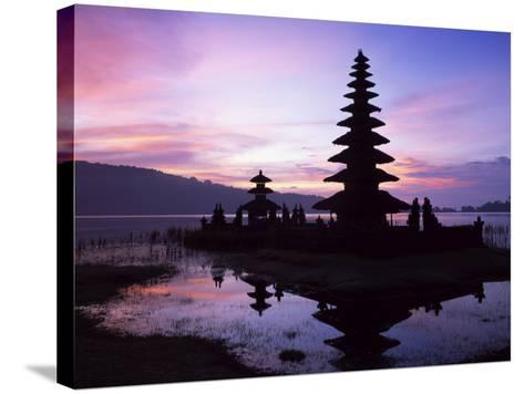 Reflections of the Candikuning Temple in the Water of Lake Bratan, Bali, Indonesia, Southeast Asia-Gavin Hellier-Stretched Canvas Print