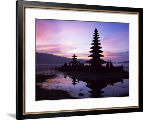 Reflections of the Candikuning Temple in the Water of Lake Bratan, Bali, Indonesia, Southeast Asia-Gavin Hellier-Framed Art Print