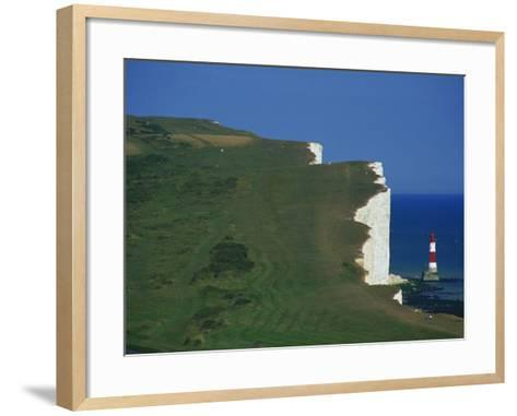 Beachy Head, South Downs, East Sussex, England, United Kingdom, Europe-David Hughes-Framed Art Print