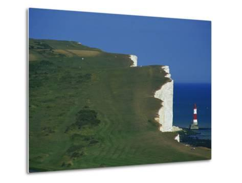 Beachy Head, South Downs, East Sussex, England, United Kingdom, Europe-David Hughes-Metal Print