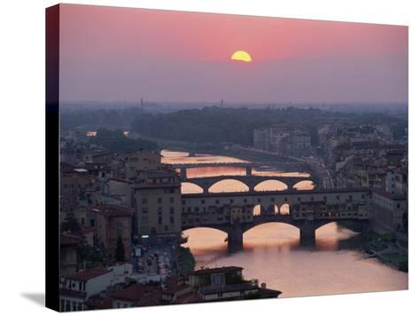 Ponte Vecchio and Other Bridges over the River Arno, Florence, Tuscany, Italy-Gavin Hellier-Stretched Canvas Print