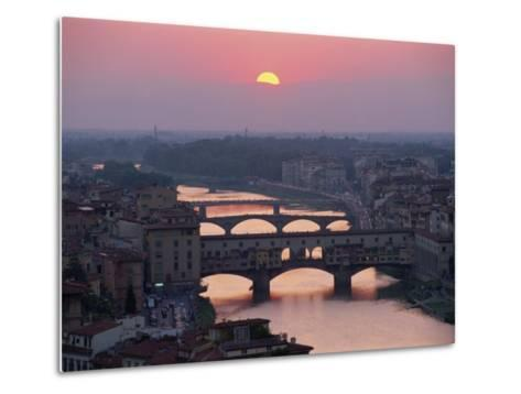 Ponte Vecchio and Other Bridges over the River Arno, Florence, Tuscany, Italy-Gavin Hellier-Metal Print
