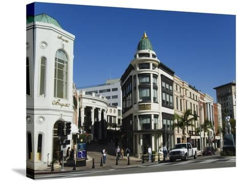 Designer Boutiques in Rodeo Drive, Beverly Hills, Los Angeles, California, USA-Kober Christian-Stretched Canvas Print