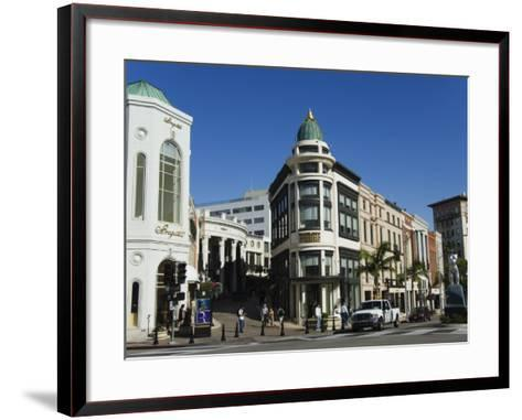 Designer Boutiques in Rodeo Drive, Beverly Hills, Los Angeles, California, USA-Kober Christian-Framed Art Print