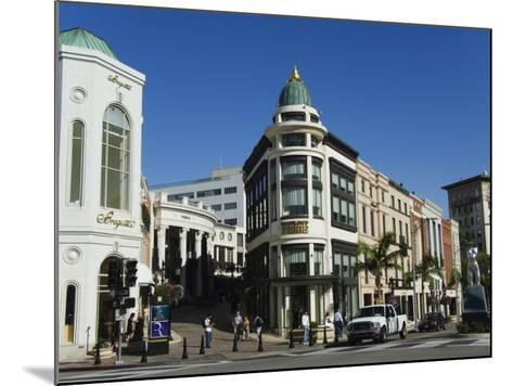 Designer Boutiques in Rodeo Drive, Beverly Hills, Los Angeles, California, USA-Kober Christian-Mounted Photographic Print