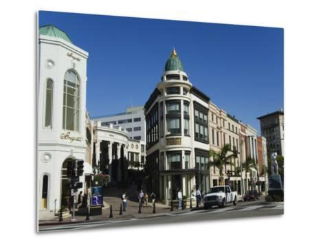 Designer Boutiques in Rodeo Drive, Beverly Hills, Los Angeles, California, USA-Kober Christian-Metal Print