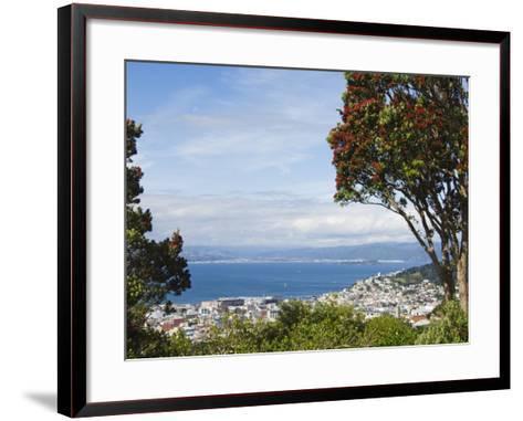 Oriental Bay and Wellington Harbour, Wellington, North Island, New Zealand, Pacific-Kober Christian-Framed Art Print