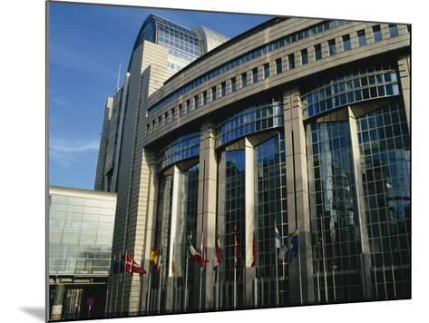 Flags Outside the European Commission and Parliament Buildings in Brussels, Belgium, Europe-David Hughes-Mounted Photographic Print