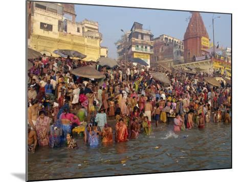 Ganges River, Makar San Kranti, Varanasi, Uttar Pradesh State, India-Gavin Hellier-Mounted Photographic Print