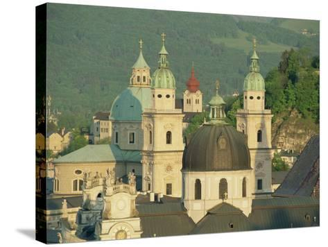 Kollegienkirche and Cathedral Domes, Salzburg, Austria, Europe-Gavin Hellier-Stretched Canvas Print