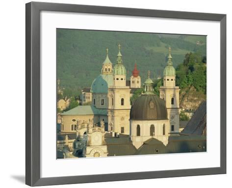 Kollegienkirche and Cathedral Domes, Salzburg, Austria, Europe-Gavin Hellier-Framed Art Print