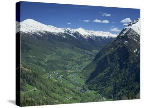 View from the Grossglockner Road, Hohe Tauren National Park Region, Austria, Europe-Gavin Hellier-Stretched Canvas Print