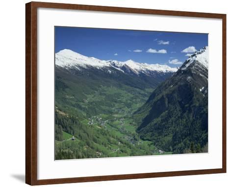 View from the Grossglockner Road, Hohe Tauren National Park Region, Austria, Europe-Gavin Hellier-Framed Art Print