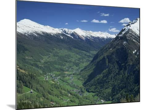 View from the Grossglockner Road, Hohe Tauren National Park Region, Austria, Europe-Gavin Hellier-Mounted Photographic Print