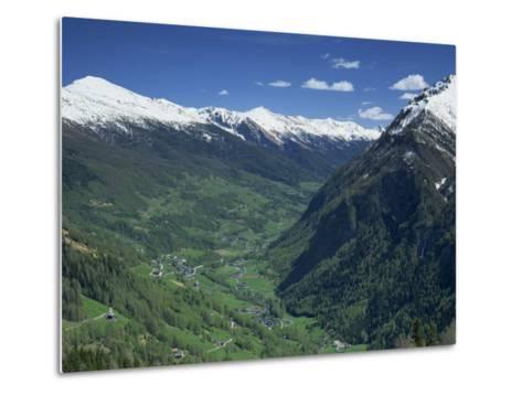 View from the Grossglockner Road, Hohe Tauren National Park Region, Austria, Europe-Gavin Hellier-Metal Print