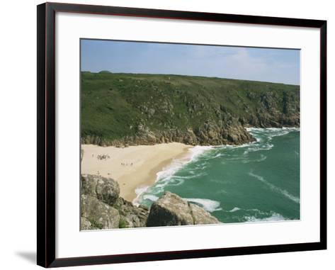 Porthcurno Cove, Cornwall, England, United Kingdom, Europe-Hunter David-Framed Art Print