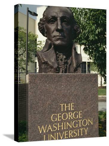 Bust of George Washington, George Washington University, Washington D.C., USA-Hodson Jonathan-Stretched Canvas Print
