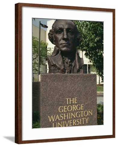 Bust of George Washington, George Washington University, Washington D.C., USA-Hodson Jonathan-Framed Art Print