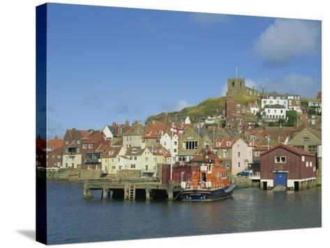 Lifeboat, Harbour and Church, Whitby, North Yorkshire, England, United Kingdom, Europe-Hunter David-Stretched Canvas Print
