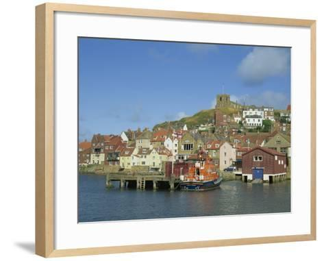 Lifeboat, Harbour and Church, Whitby, North Yorkshire, England, United Kingdom, Europe-Hunter David-Framed Art Print