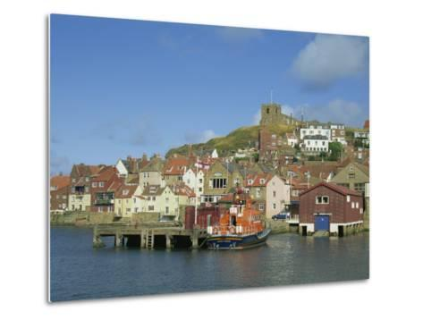 Lifeboat, Harbour and Church, Whitby, North Yorkshire, England, United Kingdom, Europe-Hunter David-Metal Print