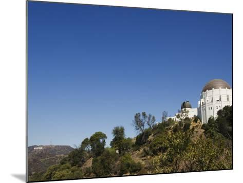 Griffiths Observatory and Hollywood Sign in Distance, Los Angeles, California, USA-Kober Christian-Mounted Photographic Print