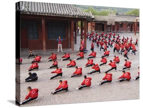 Shaolin Monastery, Shaolin, Birthplace of Kung Fu Martial Art, Henan Province, China-Kober Christian-Stretched Canvas Print